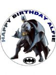 7.5 Batman Personalised Icing or Wafer Paper Cake Top Topper